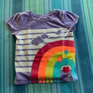 Garanimals Purple Rainbow Short Sleeve T-shirt